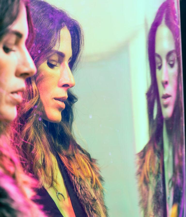 Creative photography of woman through film