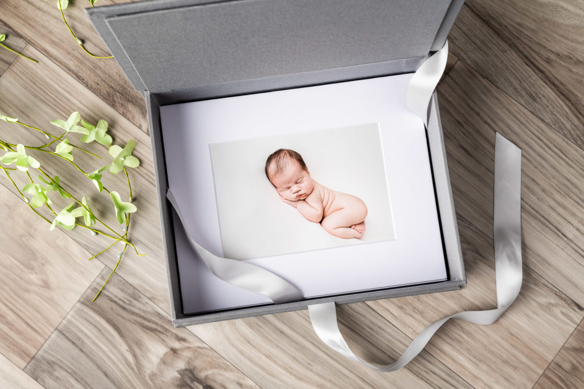 Product photography of gray linen image box