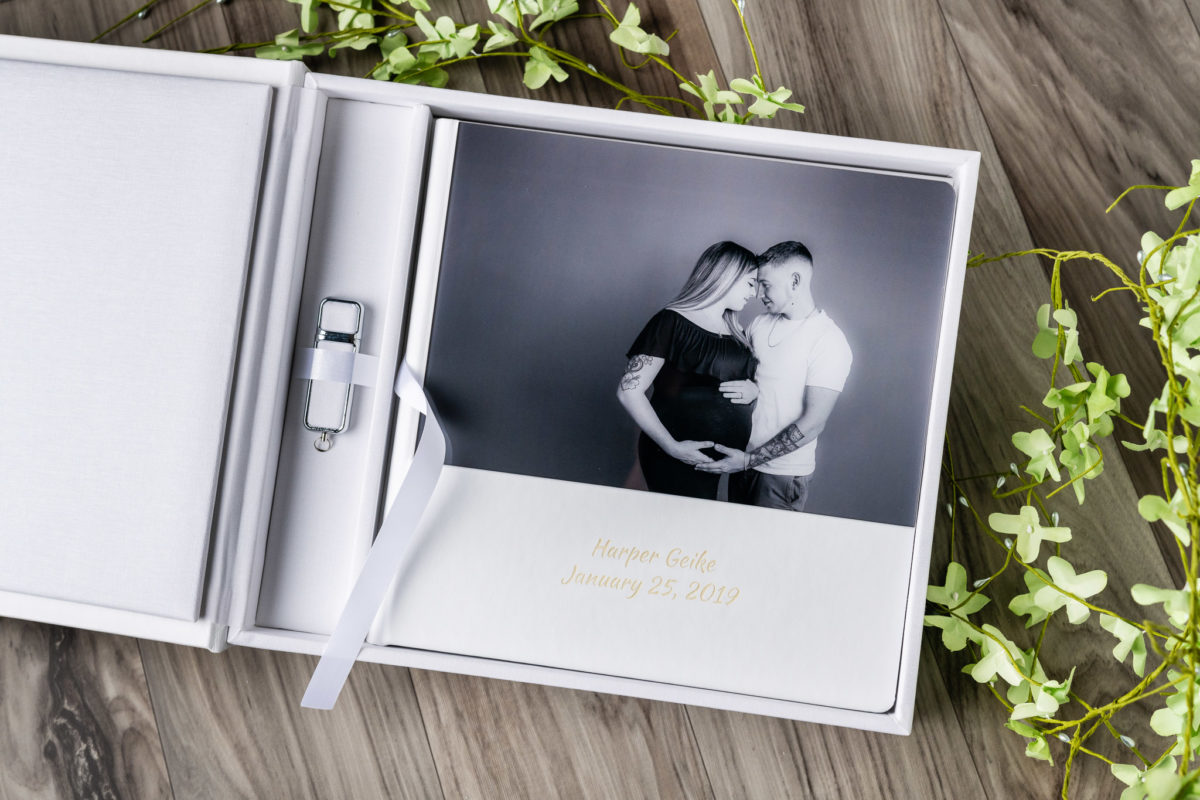 Product photography of photo album