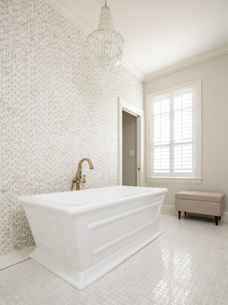 Interiors photography of remodeled bathroom